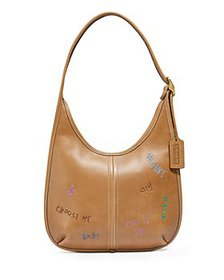 COACH - Ergo Small Embroidered Leather Shoulder Ba