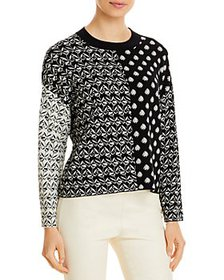 Weekend Max Mara - Mixed Pattern Pullover Sweater
