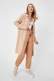 Nasty Gal Butter Casual Button Down Longline Shack