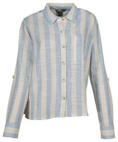 Natural Reflections Striped Button-Down Long-Sleev