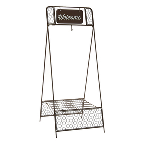 40in. Welcome Rustic Plant Stand