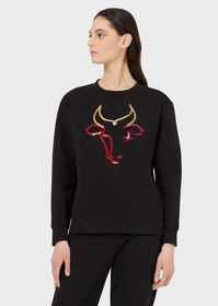 Armani Sweatshirt with ox sequinned embroidery