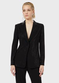 Armani Blazer with all-over crystal embroidery