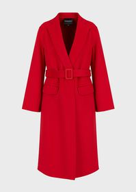 Armani Cashmere-and-wool coat with flared sleeves