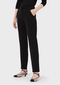 Armani Cigarette trousers with rhinestoned side tr