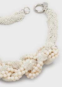 Armani Multi-strand, twisted rope chain necklace w