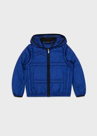 Armani Hooded puffer jacket with detachable sleeve