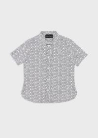Armani Stretch short-sleeved shirt with all-over p
