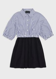Armani Striped dress with a two-piece effect