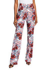 Badgley Mischka Collection Floral Paisley-Print Cr