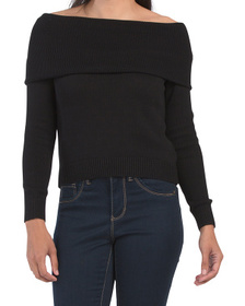 Cotton Off The Shoulder Sweater