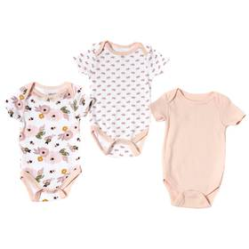Baby Girl (NB-9M) Chick Pea 3-pack Floral Bodysuit