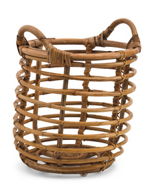 Extra Small Rattan Basket With Rattan Handles