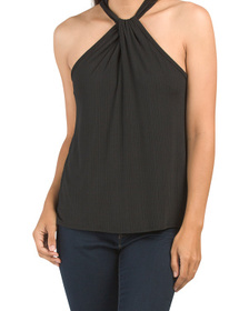 Made In Usa Twist Front Date Night Top