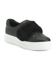 Leather Cozy Sneakers