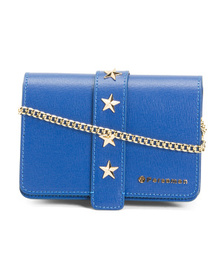 Made In Italy Leather Star Detail Satchel