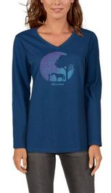 Life is Good Celestial Horse Crusher Tee V-Neck Lo