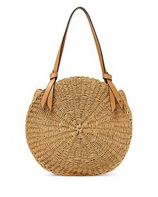 Etienne Aigner - Luca Large Round Straw Beach Tote