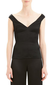 Theory Paneled Off-Shoulder Shell
