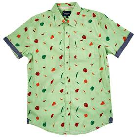 Mens Visitor Hot Peppers Print Button Down Shirt