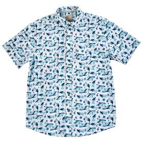 Mens Visitor Ditsy Whale Print Short Sleeve Button