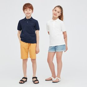 Kids Dry Pique Short-Sleeve Polo Shirt (Online Exc
