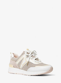 Michael Kors Pippin Mixed-Media Trainer