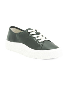 Leather Embossed Casual Sneakers