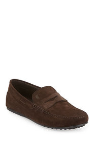 Tod's Suede Gommini Penny Driver, Brown