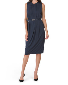 Made In Italy Gancini Belted Dress