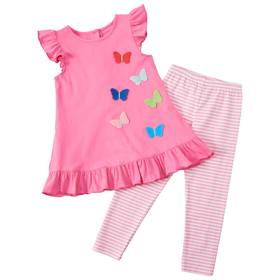 Baby Girl (12-24M) Good Lad Butterfly Top and Legg