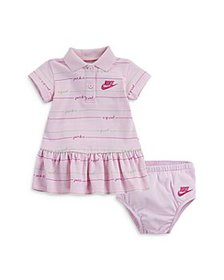 Nike - Girls' Striped Polo Dress & Bloomers - Baby