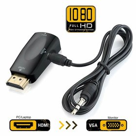 Qmart HDMI to VGA Adapter Converter Gold-Plated fo