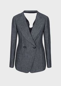 Armani Faded linen jacket with back opening