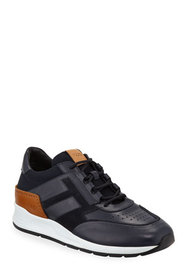 Tod's Men's 56-B Mesh & Leather Trainer Sneakers,