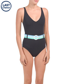 Belted Tank One-piece Swimsuit