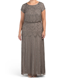 Plus Beaded Gown