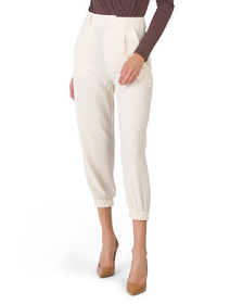 Juniors Dressy Cropped Joggers