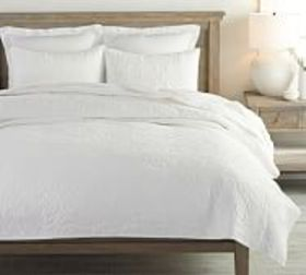 Pottery Barn Washed Cotton Quilt & Shams