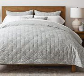 Pottery Barn Mila Handcrafted Organic Cotton Quilt