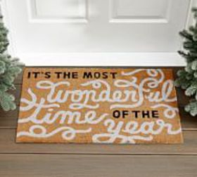 Pottery Barn Most Wonderful Time Doormat