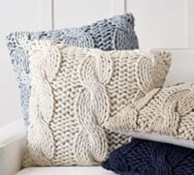 Pottery Barn Colossal Handknit Pillow Covers