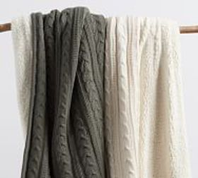Pottery Barn Cozy Cable Knit Throws