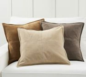 Pottery Barn Pieced Suede Pillow Covers