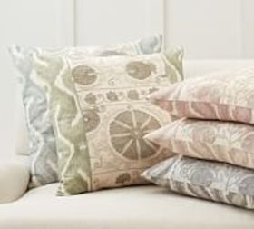 Pottery Barn Carmine Embroidered Pillow Covers