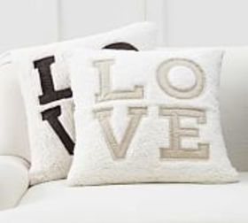 Pottery Barn Love Sherpa Pillow Covers
