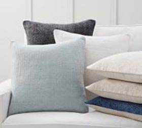 Pottery Barn Faye Linen Textured Pillow Covers