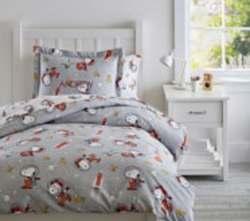 Pottery Barn Glow-in-the-Dark Snoopy® Space Duvet