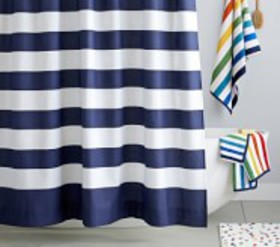 Pottery Barn Rugby Shower Curtain