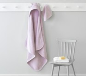 Pottery Barn Super Soft Kitty Baby Hooded Towel An